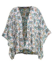 Utopia Paisley Printed Kimono Jade
