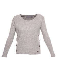 Utopia Souchy Knit Pullover Sweater Grey