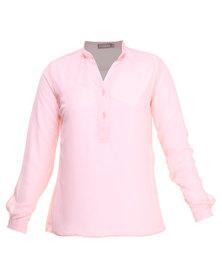 Utopia Chiffon Blouse Pink