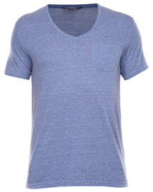Utopia Speckle Tee with Pocket Blue