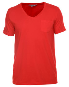 Utopia Tee with Pocket Red