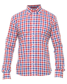 Utopia Check Shirt Blue and Red