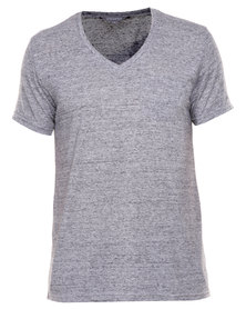 Utopia Tee with Pocket Grey Melange