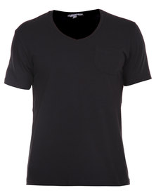 Utopia Tee with Pocket Black
