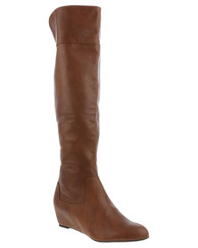 Utopia Concealed Wedge Boot Tan