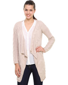 Utopia Cotton Fall Away Cardigan Cream