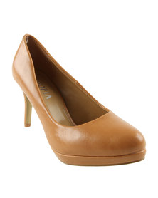 Utopia Almond Toe Court Shoes Camel