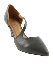 Utopia A-Symmetrical Pointy Court Shoes Grey
