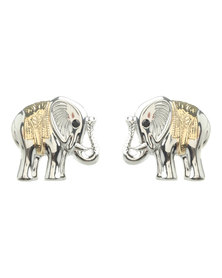 Utopia Elephant Stud Earrings Silver/Gold