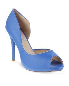 Utopia Peep Toe Heel Blue