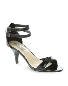 Utopia Ankle Strap Heels Black