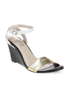 Utopia Metallic Wedges Gold