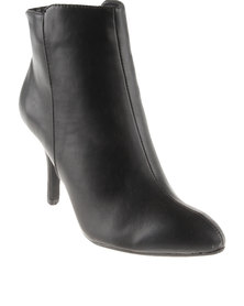 Utopia Panelled Heel Ankle Boot Black