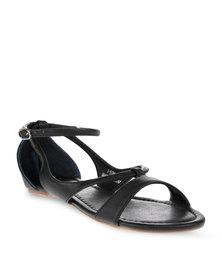 Utopia Strappy Sporty Sandals Black