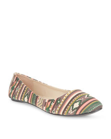 Utopia Printed Pumps Brown