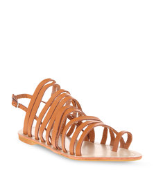 Utopia Fisherman Strappy Sandal Tan