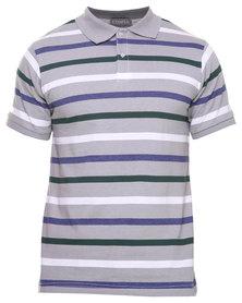 Utopia Stripe Polo Grey/Blue