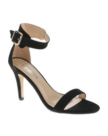 Utopia Barely There Heel Sandal Black