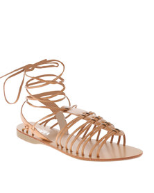 Utopia Tie Up Fisherman Sandals Tan