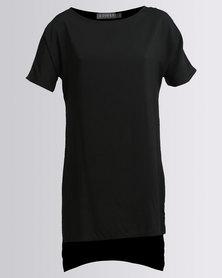 Utopia Viscose Tunic Black
