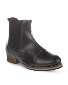 Utopia Leather Chelsea Boots Black