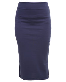 Utopia Ponti Pencil Skirt Navy