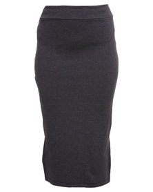 Utopia Ponti Pencil Skirt Charcoal