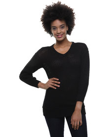 Utopia Lacey Jumper Black