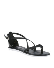 Utopia Leather Gladiator Sandal Black