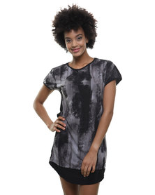 Utopia Combo Knit Print Dress Multi