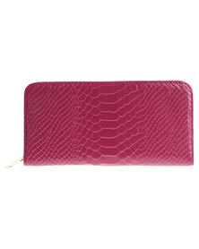 Utopia Mock Croc Wallet Pink