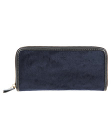 Utopia Pony Leather Wallet Navy