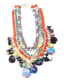 Utopia Bead Statement Necklace Multi