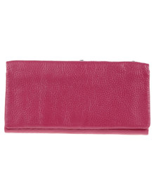 Utopia Zip Around Leather Wallet Pink