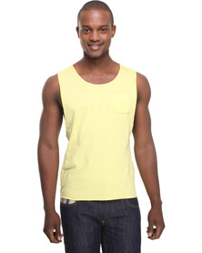 Utopia Sleeveless Dipped Hem Vest Yellow