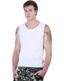 Utopia Sleeveless Dipped Hem Vest Cream