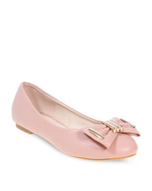 Utopia Bow Trim Pumps Pink