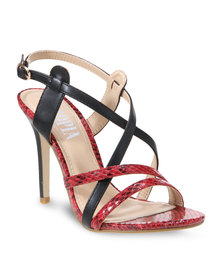 Utopia Textured Heels Red