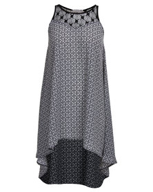 Utopia Printed Hilo Tunic Black/White