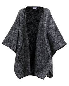 Utopia Knitted Poncho Grey