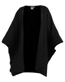 Utopia Knitted Poncho Black