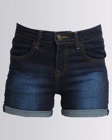 Utopia Denim Shorts Dark Wash