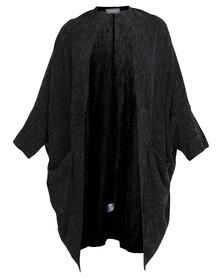 Utopia Long Knitted Cardigan Grey