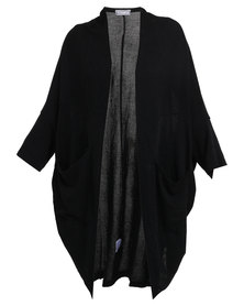 Utopia Long Knitted Cardigan Black