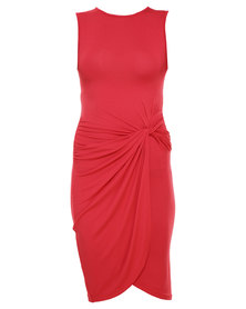 Utopia Knot Dress Red