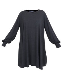 Utopia Fine Knit Top Grey
