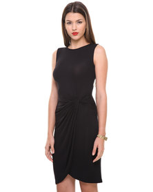 Utopia Knot Dress Black