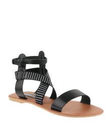 Utopia Studded Gladiator Sandals Black