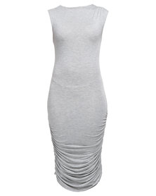 Utopia Draped Dress Grey