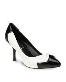 Utopia Two Tone Heels White